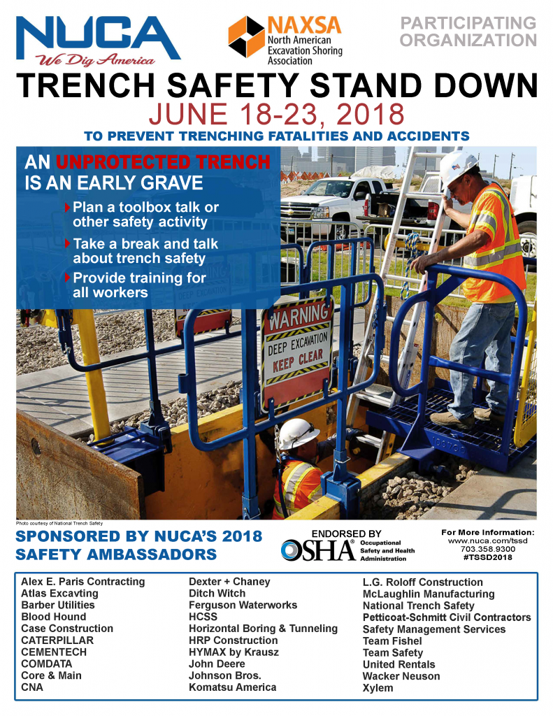 2018 Trench Safety Stand-Down Flyer