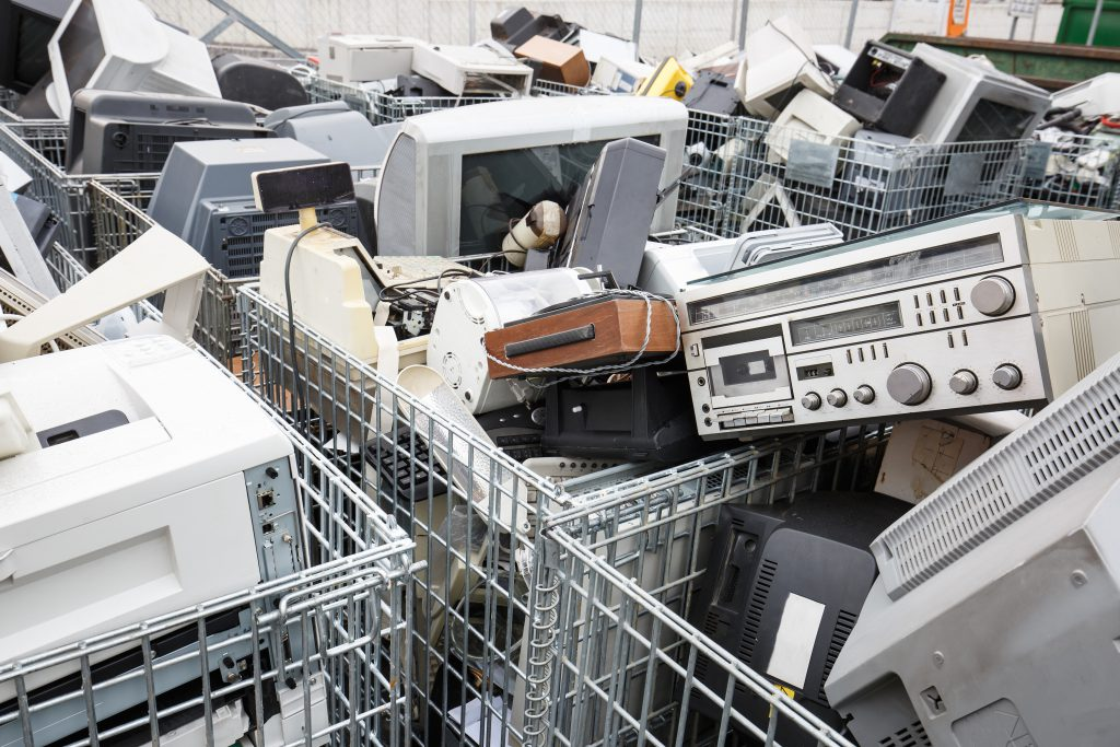 Carts of Electronic Waste