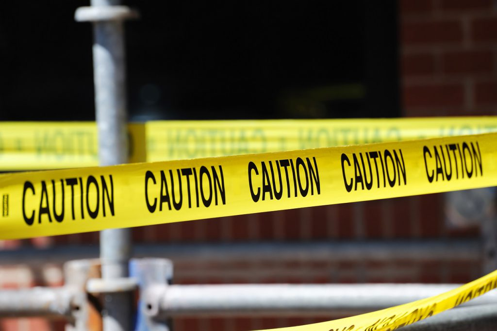 Caution Tape Can Prevent Workplace Injuries