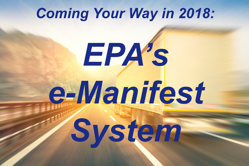 E-Manifest System Slated to Launch in 2018