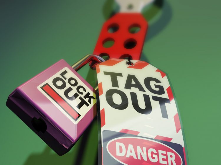Lockout Tagout. Safety Measures used to secure equipment while under repair, inspection or out of service