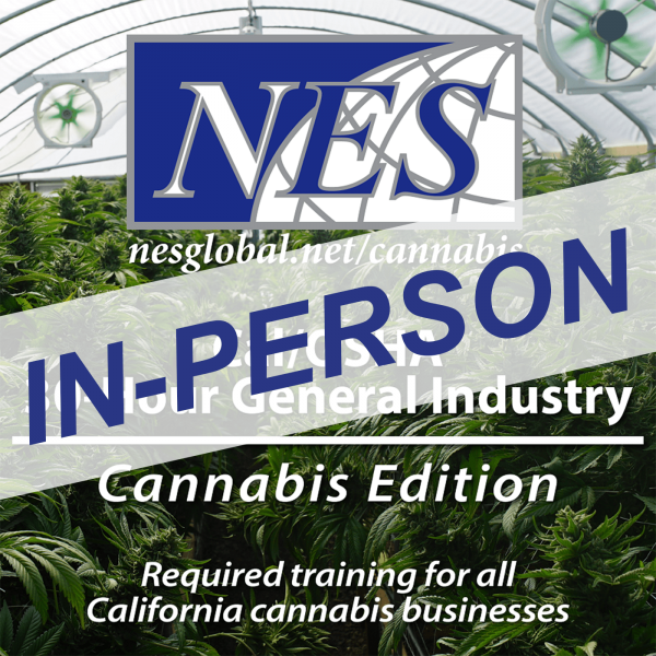Cal-OSHA 30-Hour General Industry – Cannabis Edition In-Person