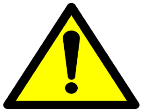 Proposition 65 Warning Label Yellow and Black