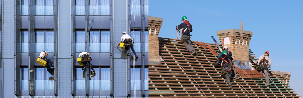 Window Washers and Roofers affected by OSHA walking-working and personal fall protection system regulations